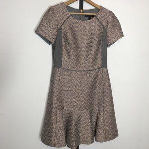 J. Crew Metallic Mixed Tweed Fit & Flare Dress 6